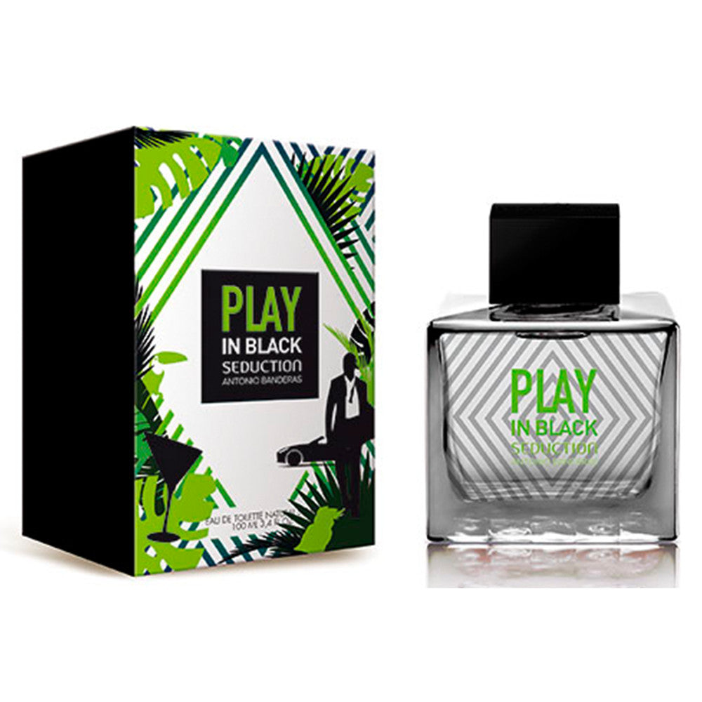 Play In Black Seduction Men EDT 100 ml - Antonio Banderas - Multimarcas Perfumes