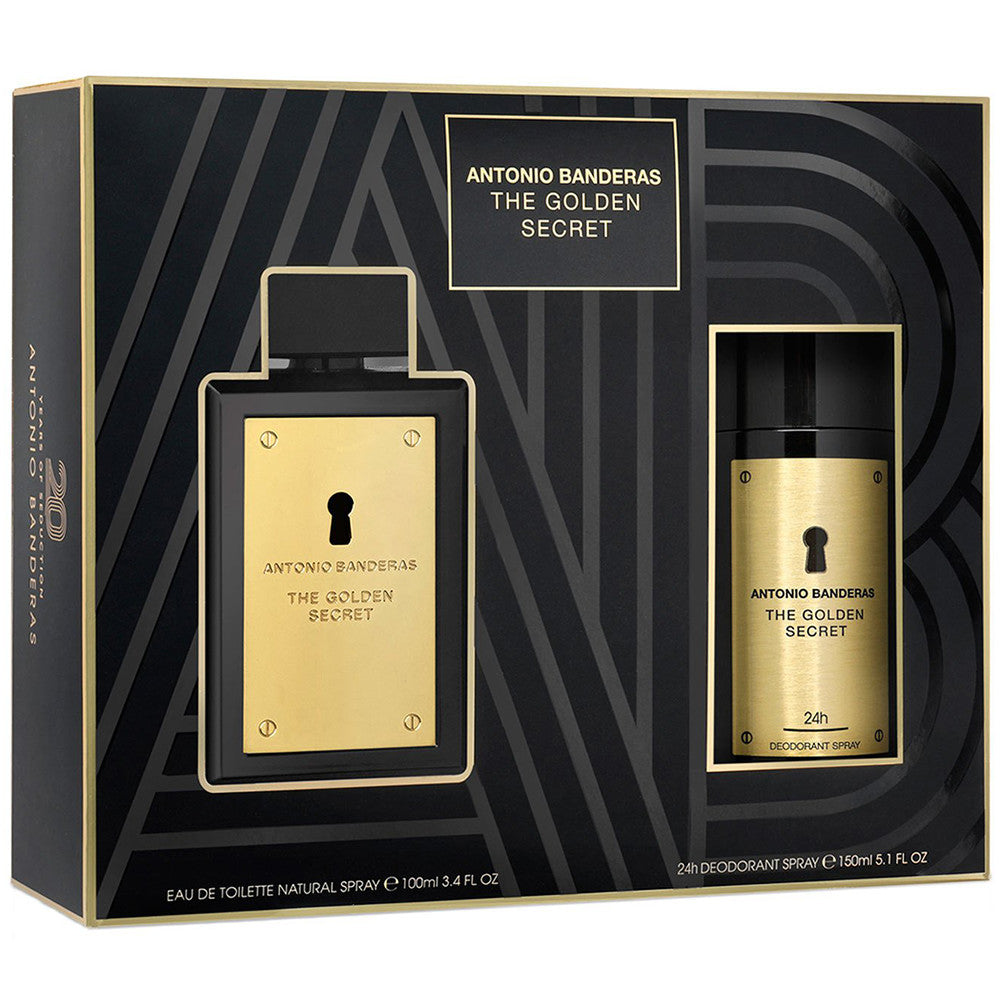 The Golden Secret EDT 100 ml + Deodorant Spray 150 ml - Antonio Banderas - Multimarcas Perfumes