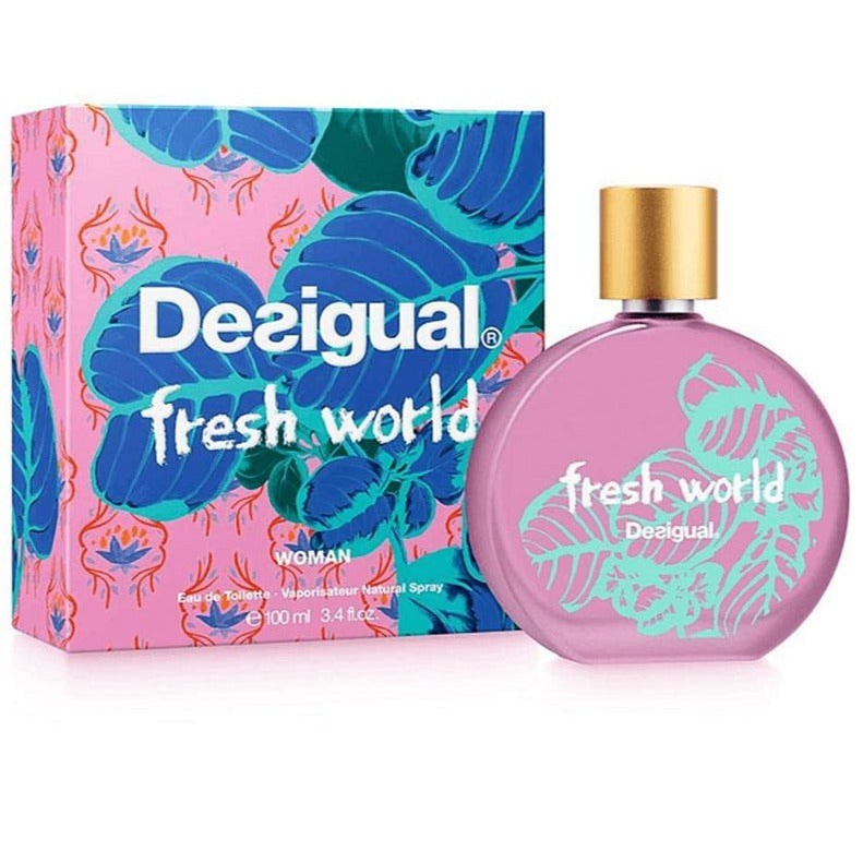 Fresh World Woman EDT 100 ml - Desigual - Multimarcas Perfumes