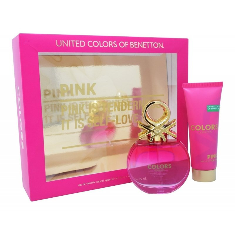 Colors Pink EDT 80 ml + Body Lotion 75 ml - Benetton