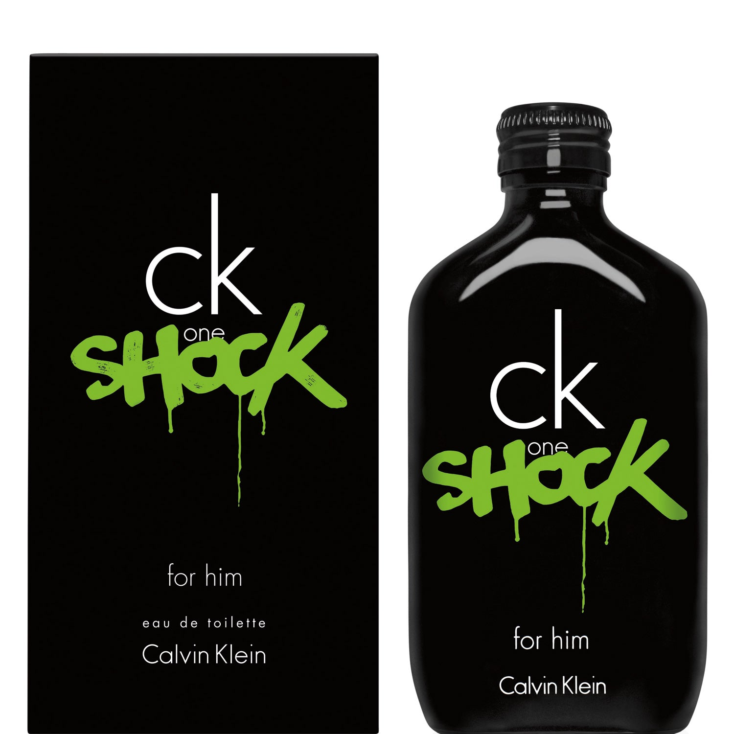 Ck One Shock For Him Edt 200 Ml - Calvin Klein