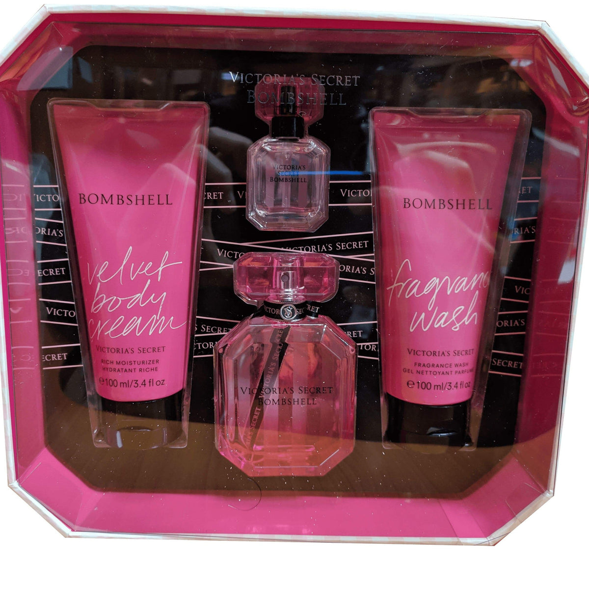 Bomshell  EDP 50 ML + 7.5 ml + 100 ml Body Lotion + 100 Lotion Hidratante - Victoria's Secret