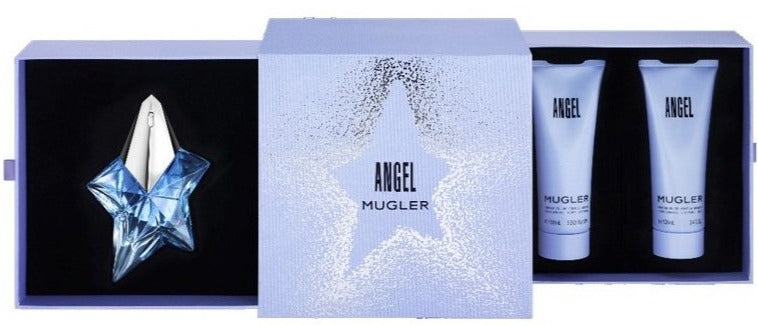 angel edp 50 ml + body locion 100 ml + shower gel 100 ml - Mugler