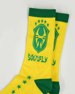 Soulfly Yellow and Green Socks