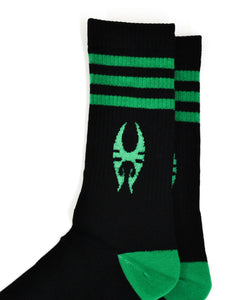 Soulfly Black and Green Socks