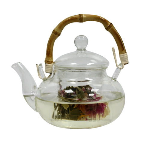 ***BAMBOO Handle Tea Pot*** 600mls