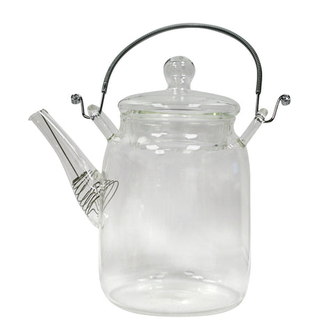 Tall Glass Tea Pot