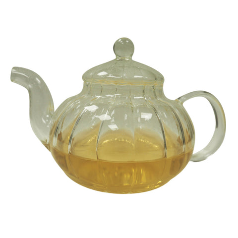 **NEW** Vintage Tea Pot w Inner Glass Filter (600mls)