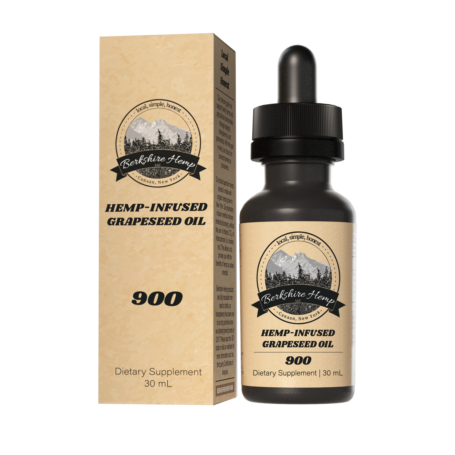 Hemp Infused Grapeseed Oil 900 - 30 mL
