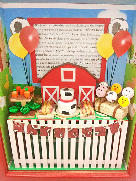 Shadowbox Photo Frame - Barnyard Bash