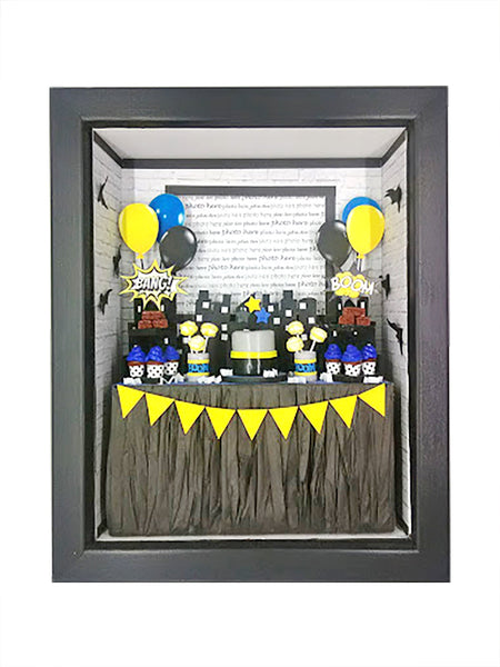 Shadowbox Photo Frame - Bang! Pow! Boom!