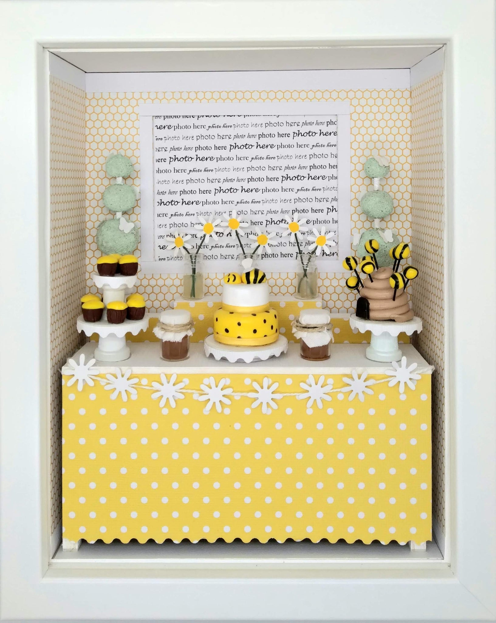 Shadowbox Photo Frame - Baby Bumble Bee
