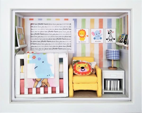 Shadowbox Photo Frame - Be Brave