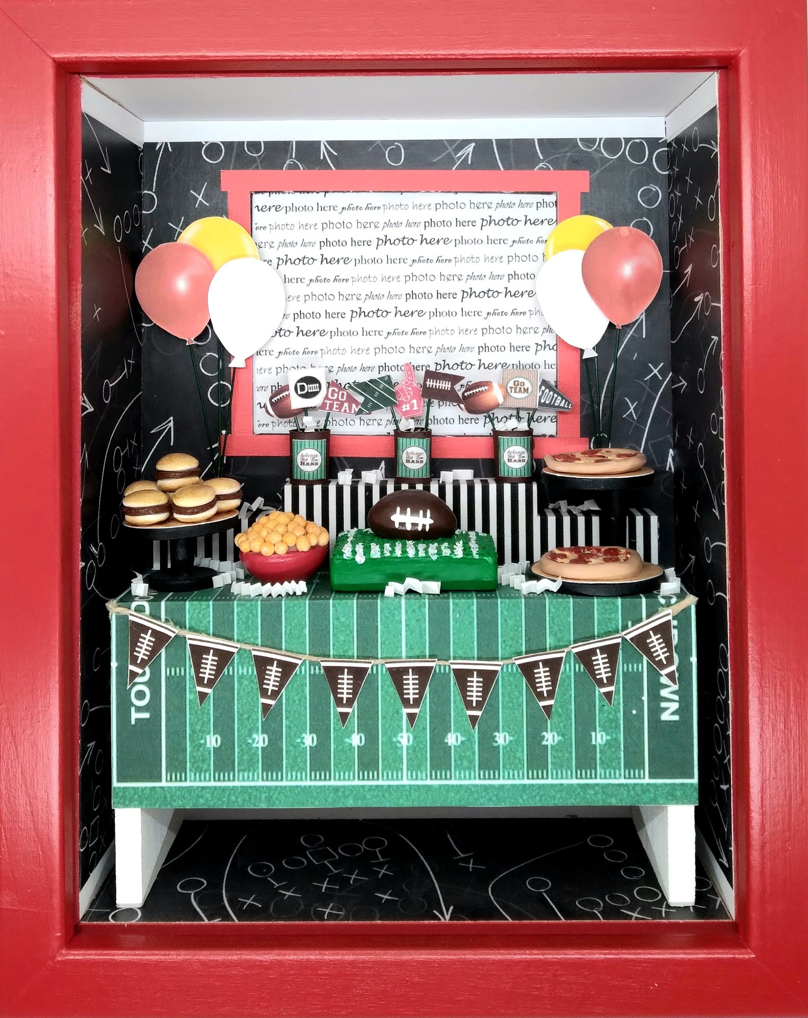 Shadowbox Photo Frame - Football