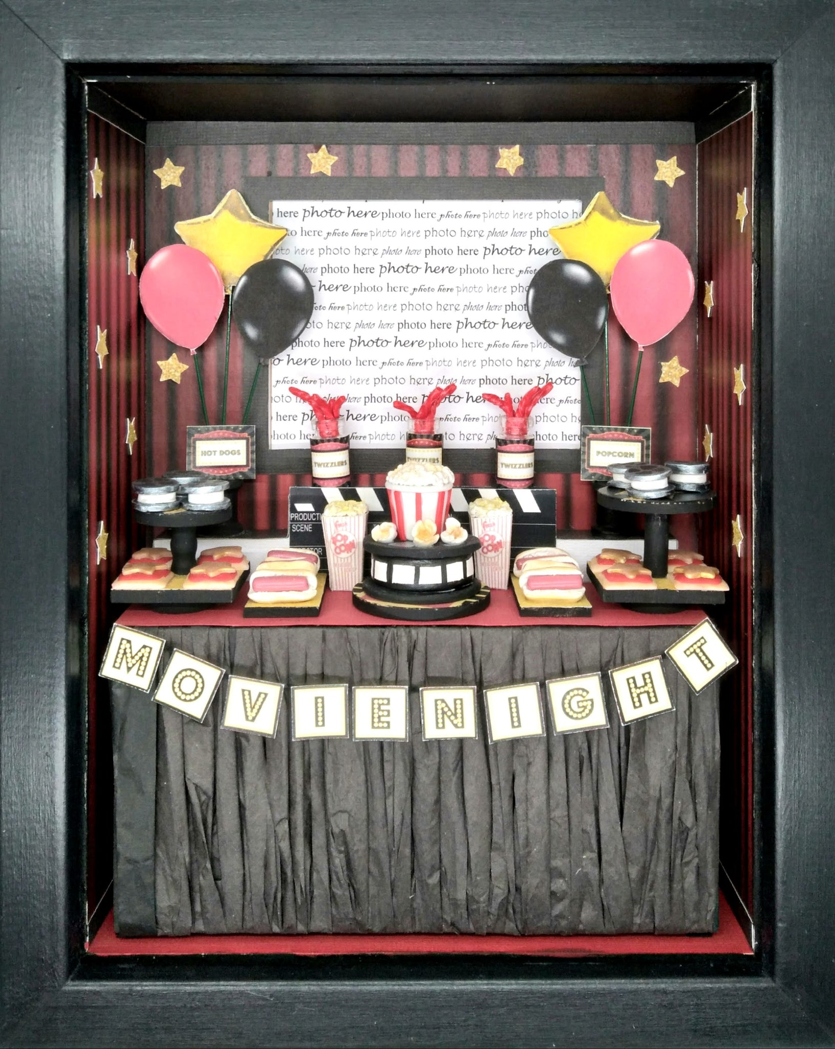 Shadowbox Photo Frame - Movie Night