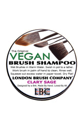 Vegan Solid Brush Shampoo: Clary Sage