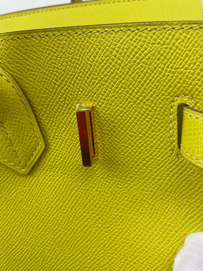 Hermes Birkin Bag 30cm in Lime Epsom with Gold Hardware