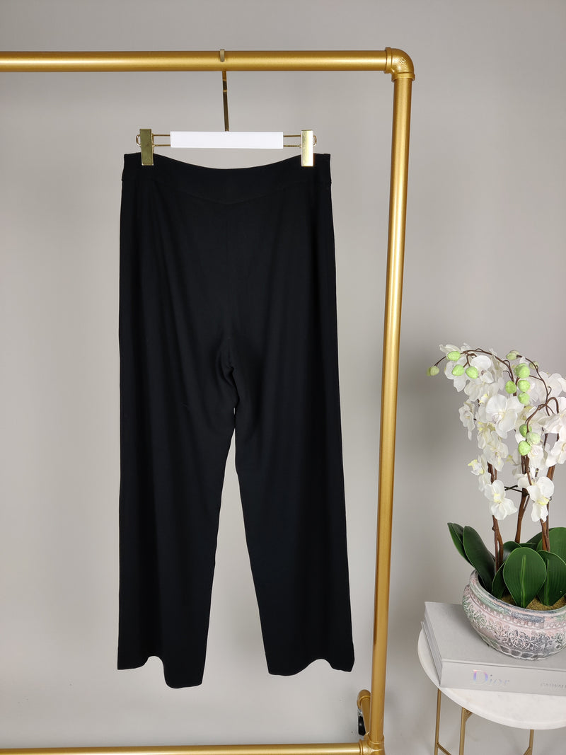 Chanel Black Trousers with Double Black Buttons Size 46 (UK14)