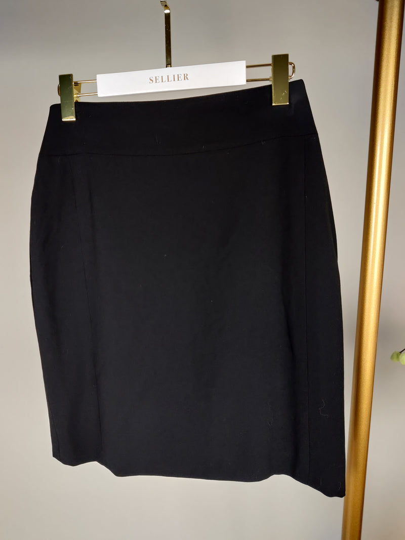 Chanel Black Pencil Skirt Size 46 (UK12)