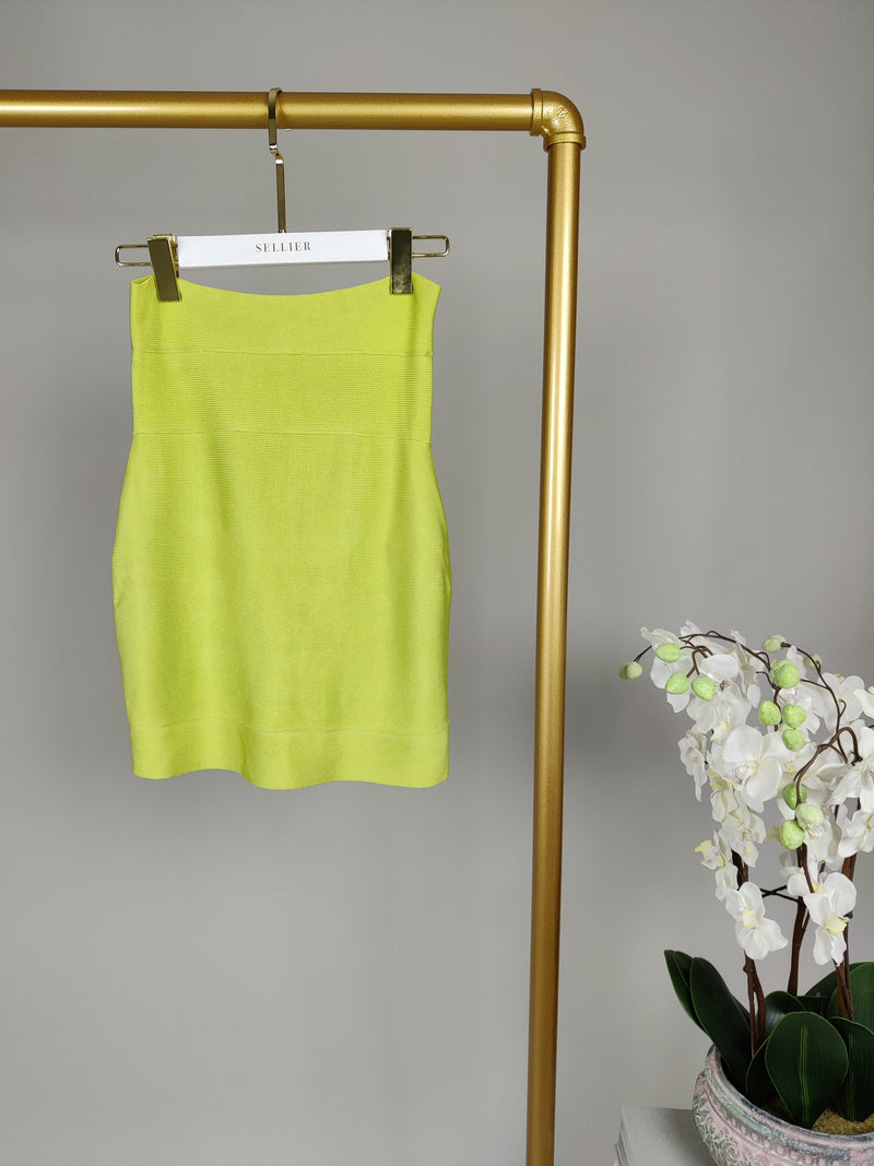 Herve Leger Lime Green Skirt Size XS