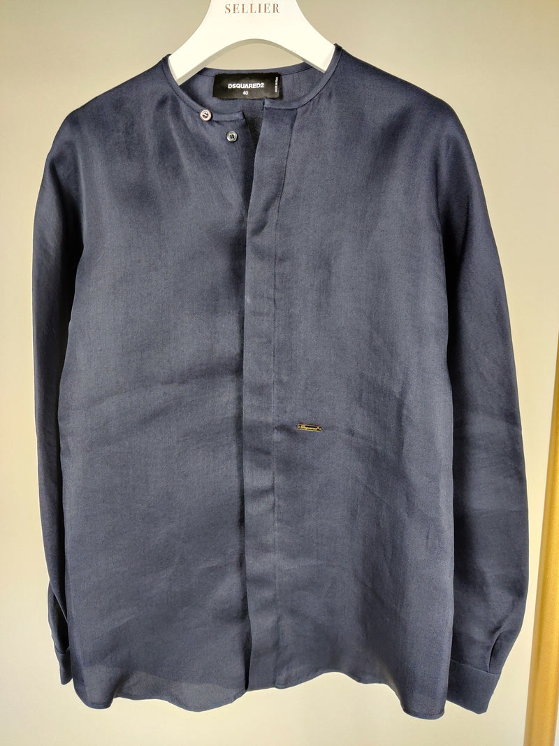 DSquared2 Navy Blue Shirt Jacket Size 40 (UK8)