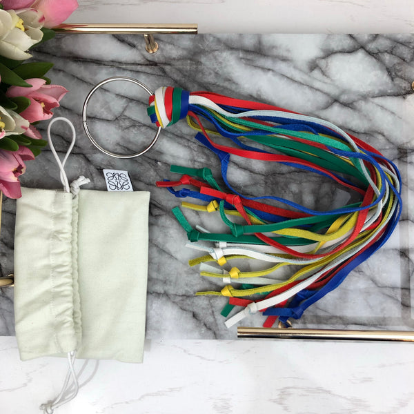 Loewe Multicoloured Leather Tassel Keychain
