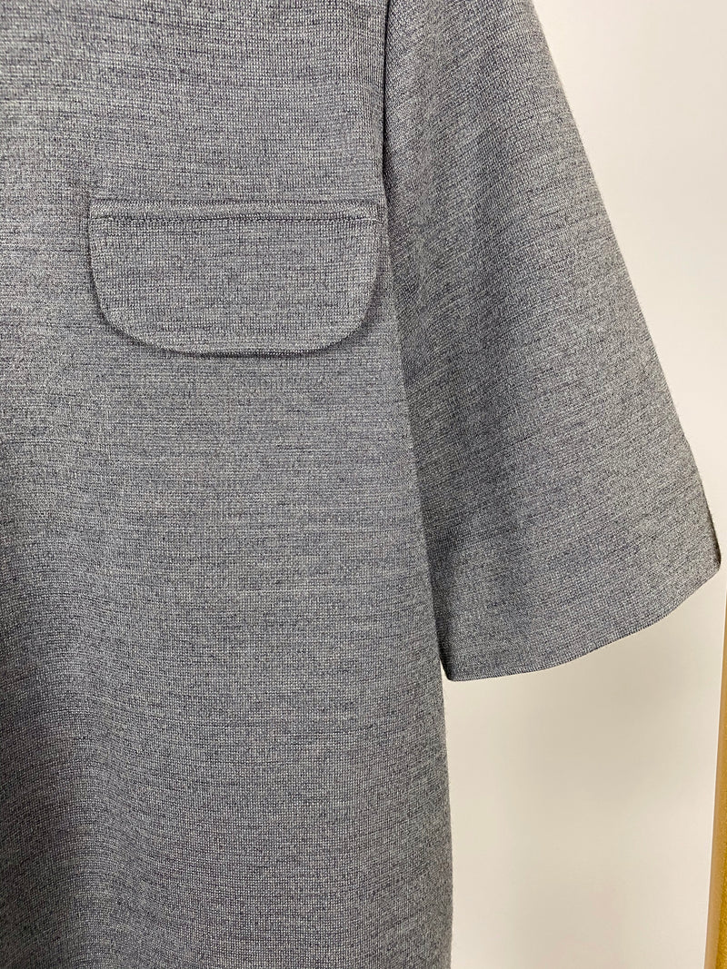 Marni Grey Top with Frill Size IT40 (UK8)