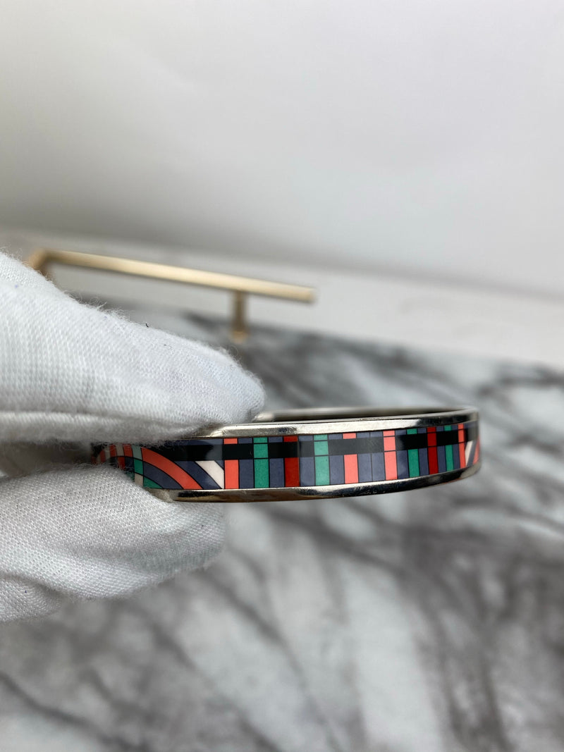 Hermes Multicolour Patterned Bangle