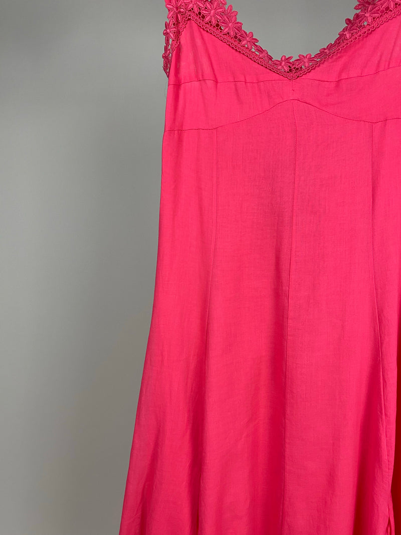 Charo Ruiz Pink Lace Daisy Strap Dress Size S (UK8)