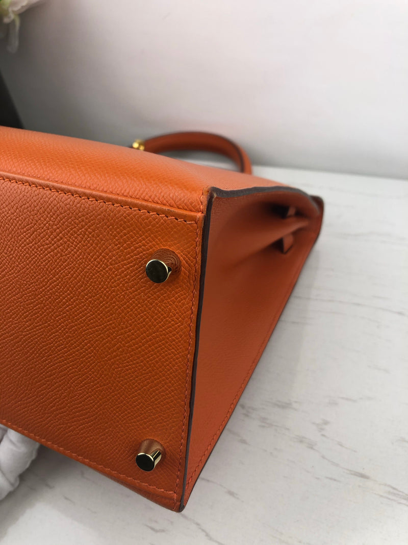 Hermes Kelly Sellier 35cm in Orange Epsom and Gold Hardware