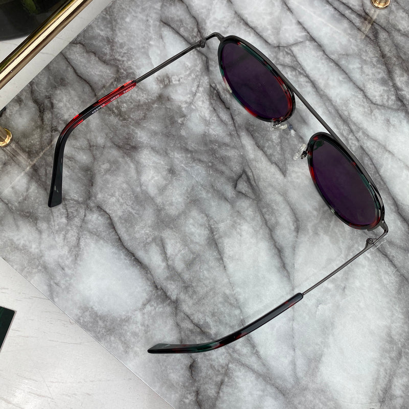Bruno Chaussignand Red and Black Keeper Sunglasses