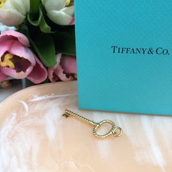Tiffany Gold Key Pendant