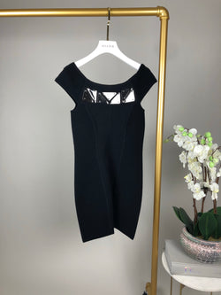 Faith Connexion Black Bandeaux Dress Size XS (UK6)