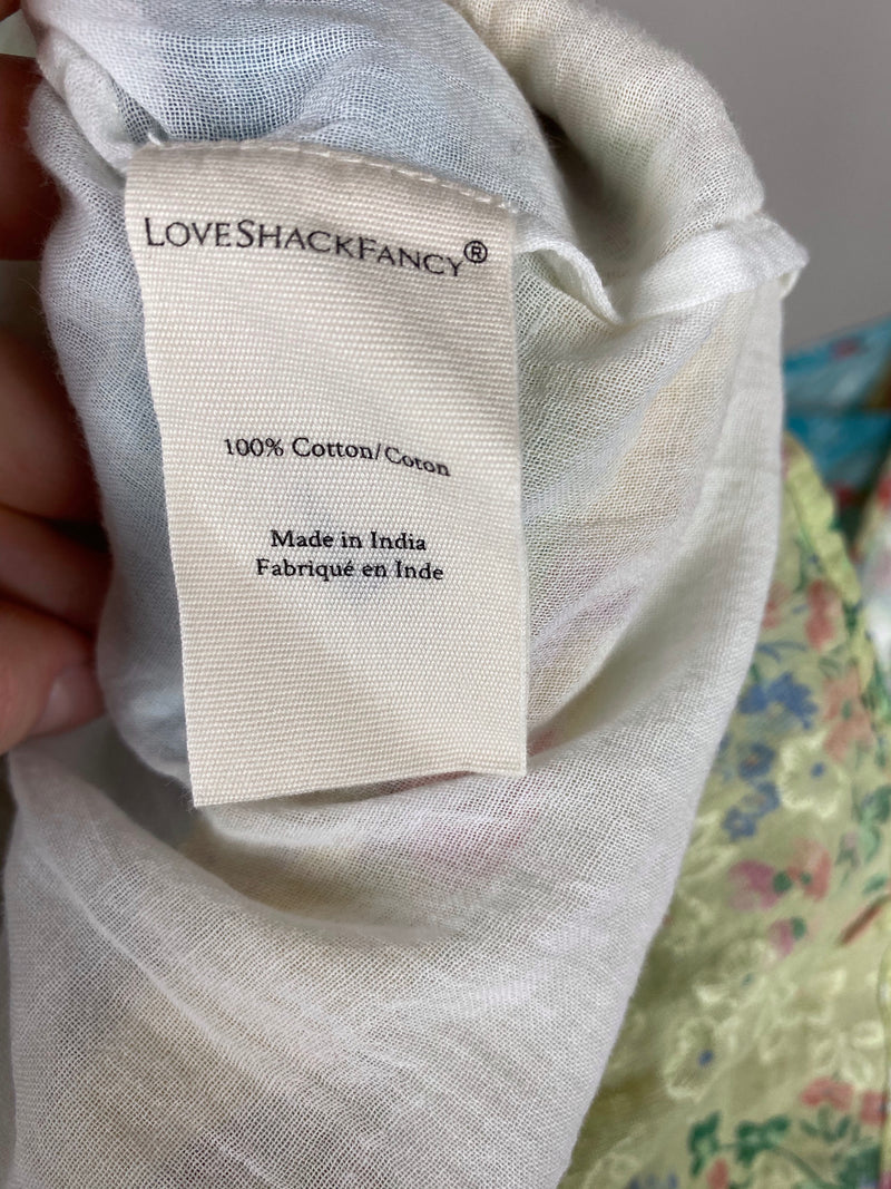 Love Shack Fancy Multicolour Ruffle Dress Size 8UK