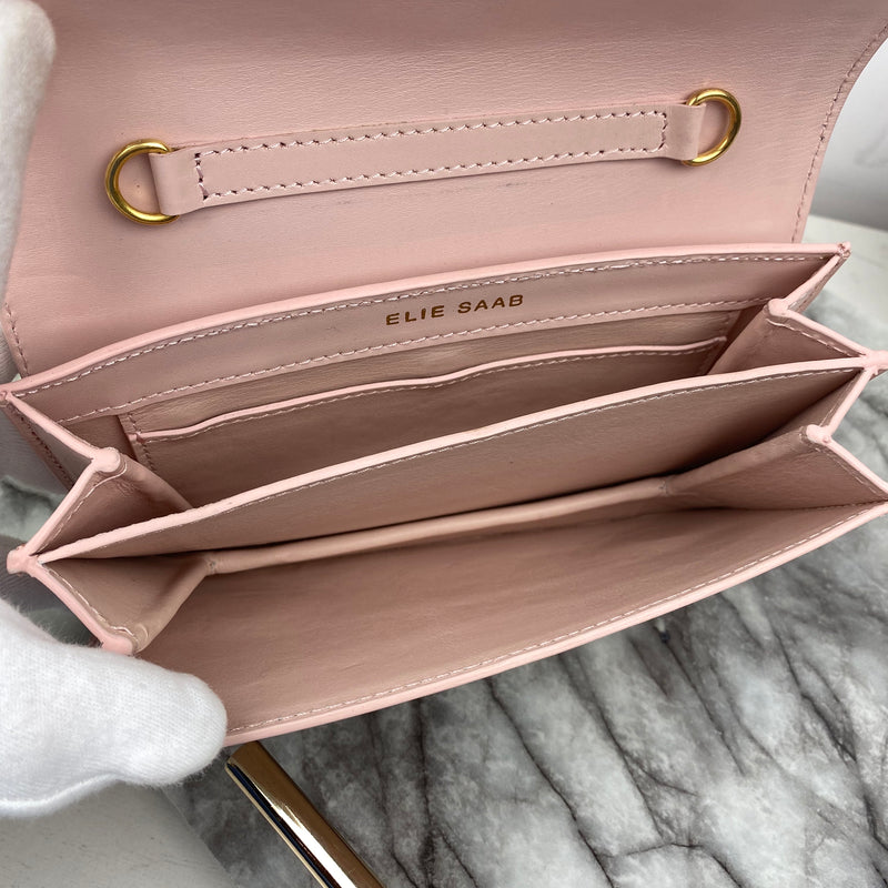 Elie Saab Baby Pink Clutch with Chain