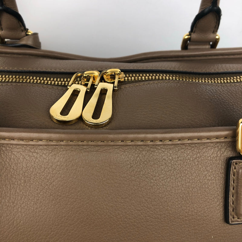 Loewe Amazona Handbag in Taupe with Gold Hardware