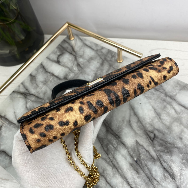 Dolce & Gabbana Mini Von Bag In Leopard