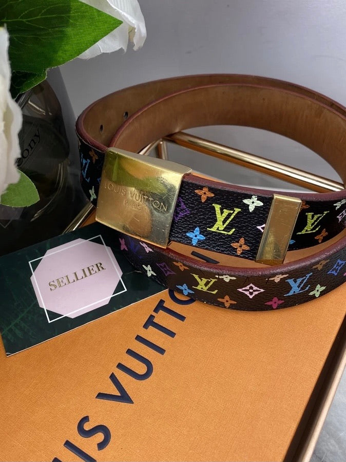 Louis Vuitton Multicolour Monogram Belt