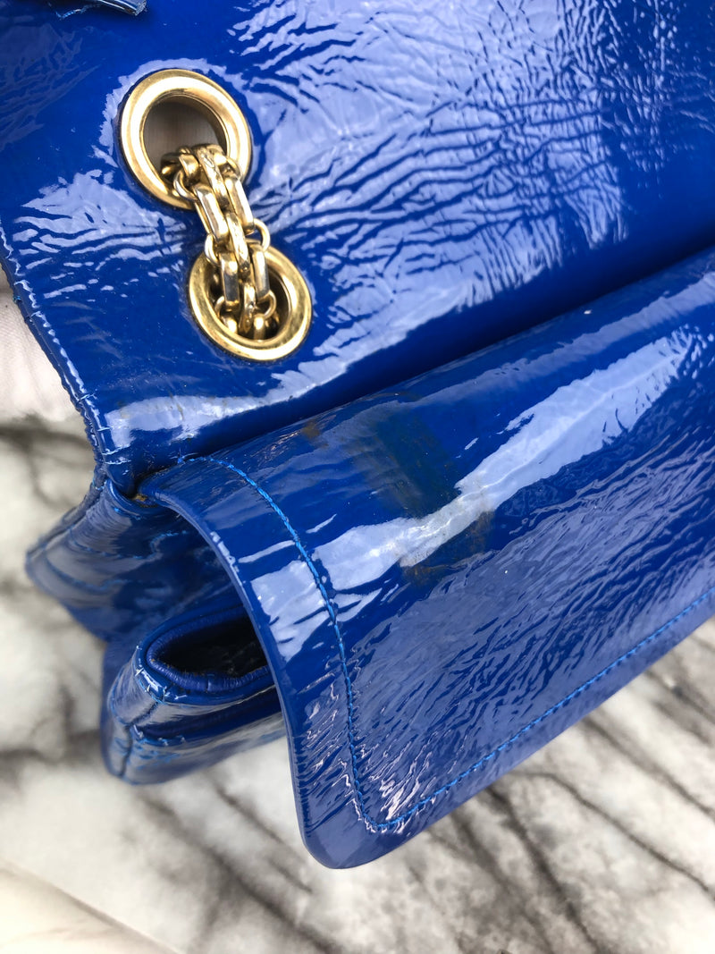 Chanel Blue Patent Jigsaw 2.55 Reissue 225 (RRP - £5300)