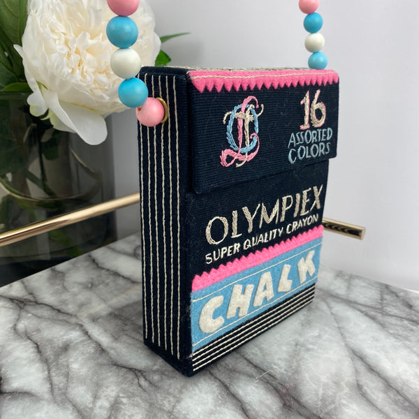 Olympia Le-Tan Chalk Box Bag in Pastel and Black