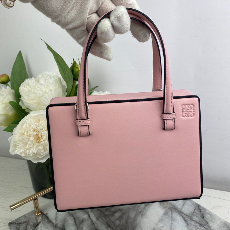 Loewe Mini Leather Book Bag in Pink