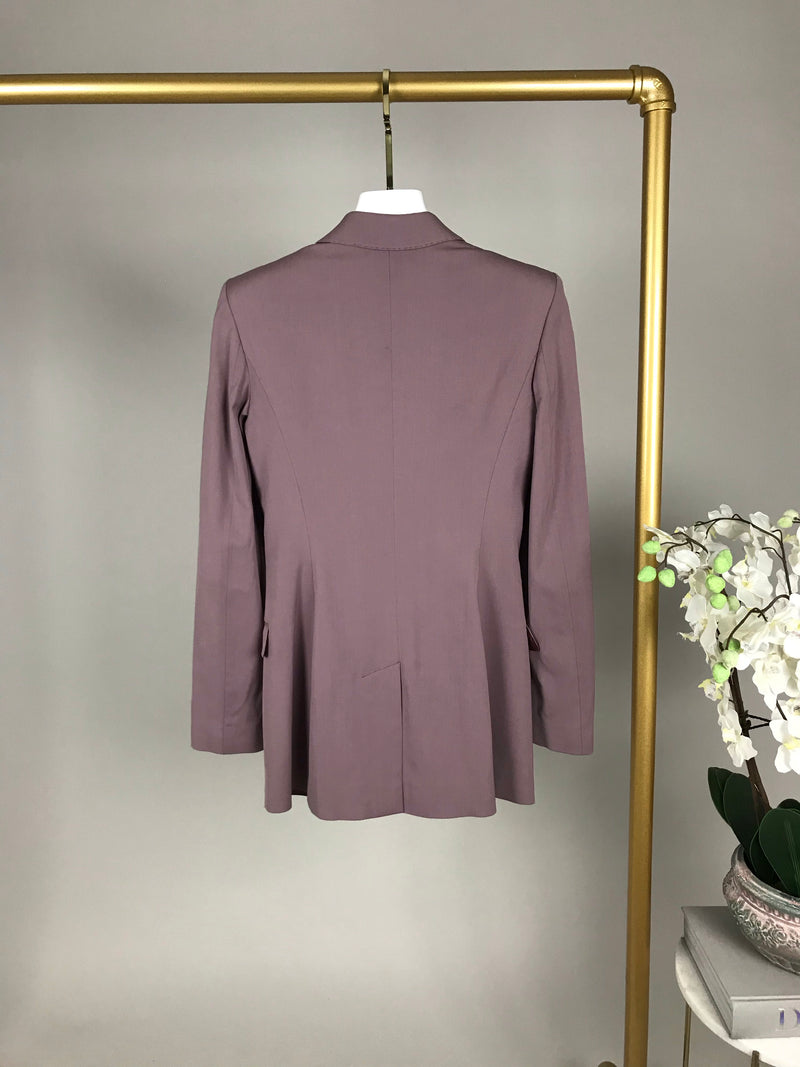 Burberry Dusty Purple Blazer with Shoulder Pads Size UK 6