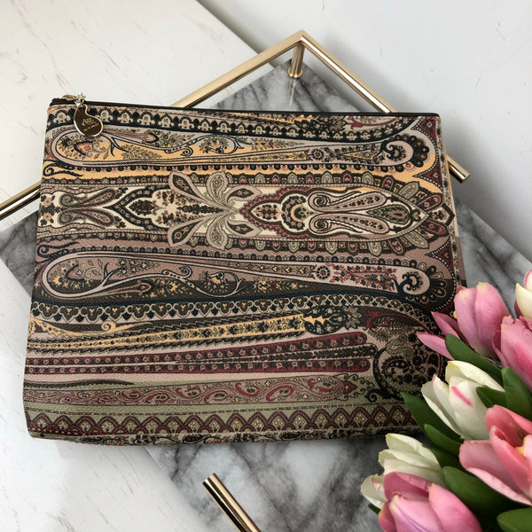 Etro Printed Leather Pouch Bag