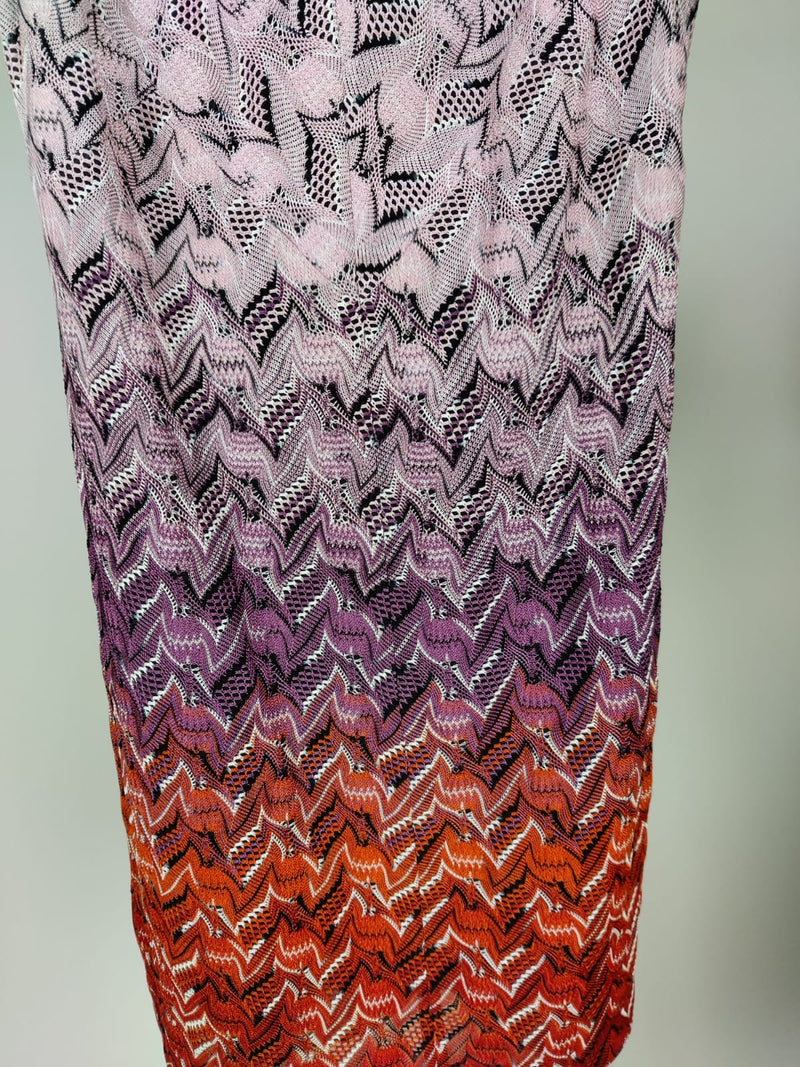 Missoni Dusty Pink Classic Knitted Beaded Dress Size 34 (UK 6)