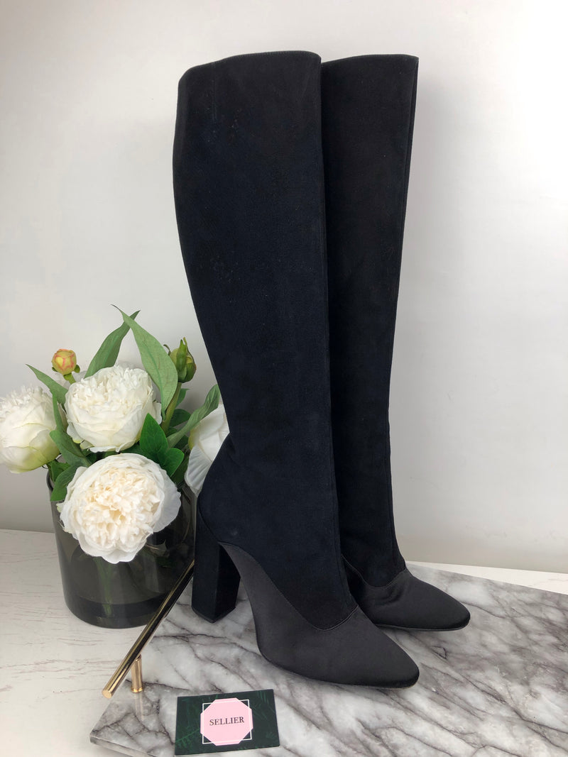Giambattista Valli Black Below Knee Boots Size 41
