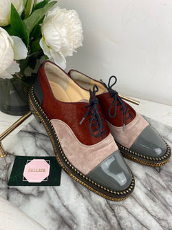 Christian Louboutin Suede and PonyHair Brogues Size 36
