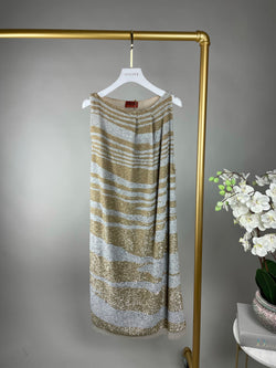 Missoni Gold and Silver Sequin Dress Size S