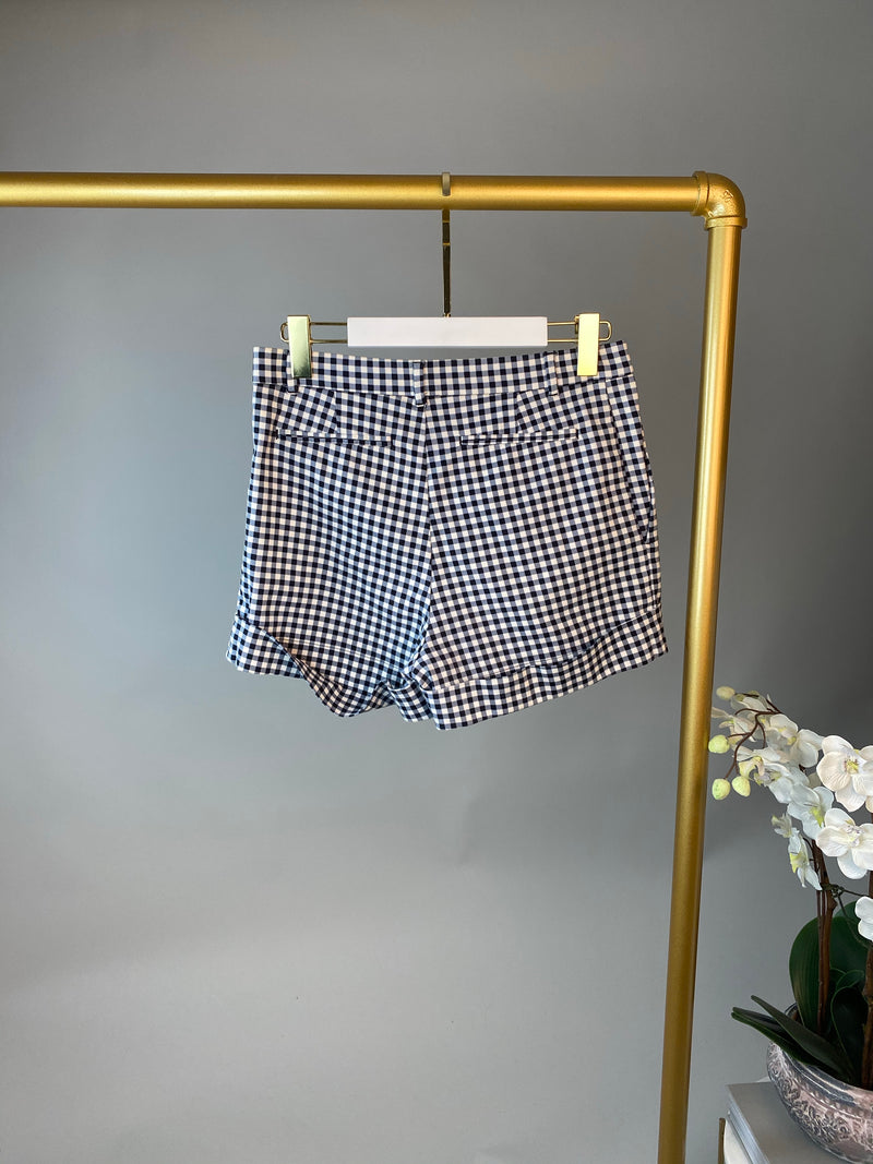 Louis Vuitton Blue and White Checked Shorts Size 38