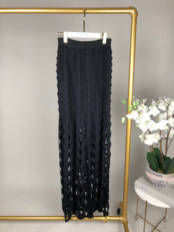 Maison Rabih Kayrouz Black Knit Maxi Skirt Size FR38 (UK10)