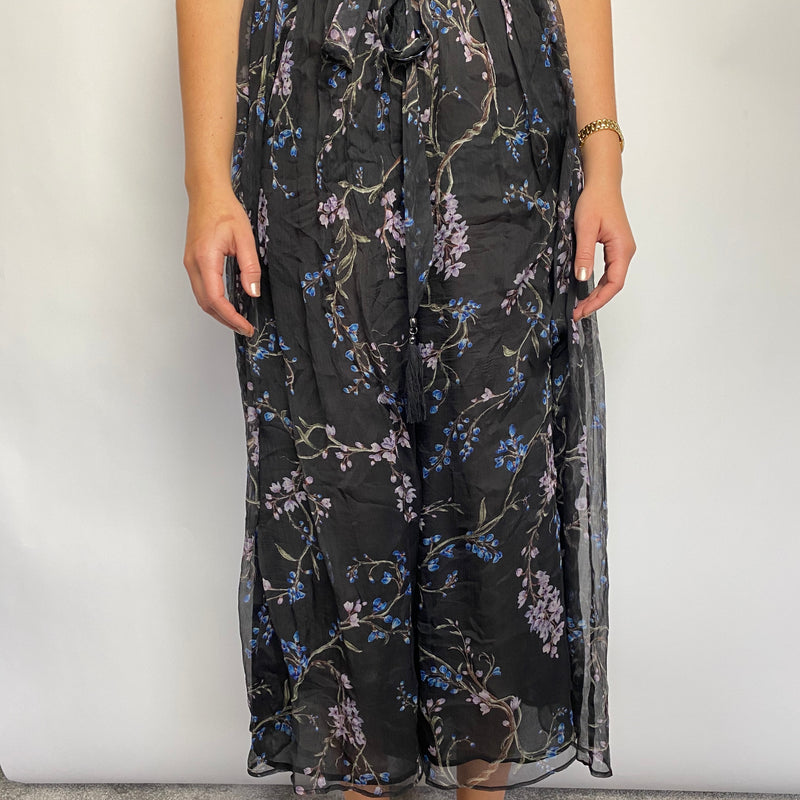 Zimmerman Floral Silk Jumpsuit Size UK 8
